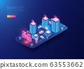 Isometric 5G smart city 63553662