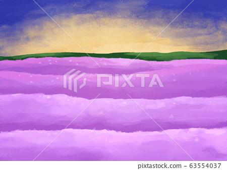 紫色的花場景觀圖 63554037