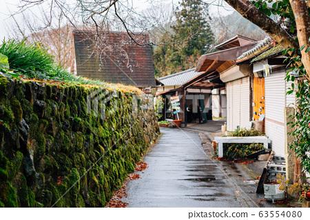 Ohara countryside village at rainy day in Kyoto, Japan 63554080