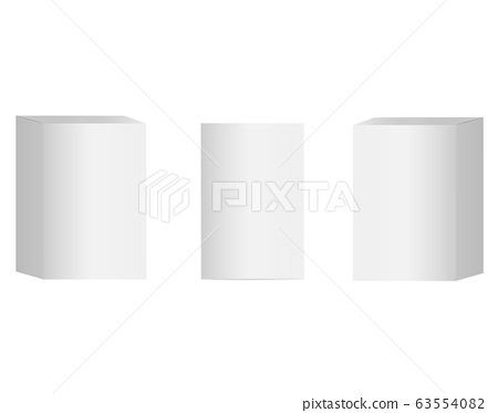 blank cardboard package boxes mockup. set of cosmetic or medical packaging. mock up white cardboard box. set of Blank white product packaging boxes on white background. flat style. 63554082