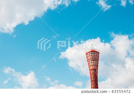 Kobe port tower in Kobe, Japan 63555472