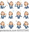 穿西裝,12種不同面部表情的女人破產 63557395