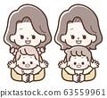 抱着婴儿的女人 63559961