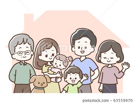 三代家庭和狗屋在這裡 63559970