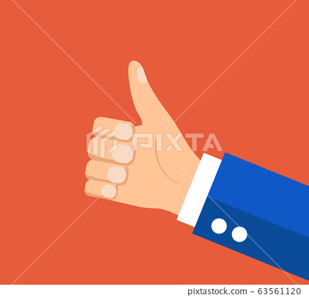 businessman holding hes thumb up 63561120