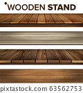 Wooden Stand And Platform Collection Set Vector 63562753