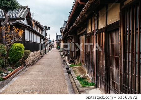 Japanese old traditional town Imaicho in Nara, Japan 63563872
