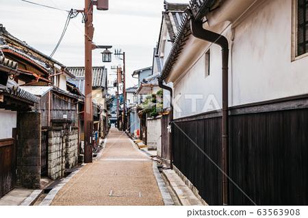 Japanese old traditional town Imaicho in Nara, Japan 63563908