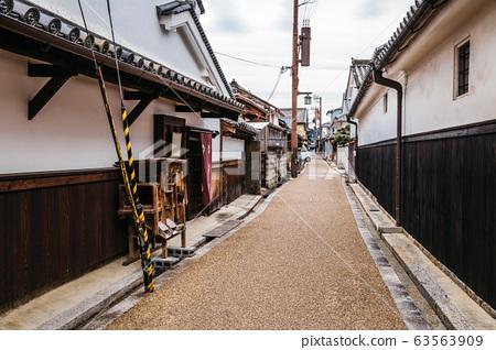 Japanese old traditional town Imaicho in Nara, Japan 63563909