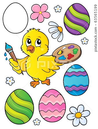 Easter eggs and chicken painter set 1 63565199
