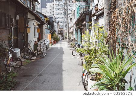 Nakazaki-cho street in Osaka, Japan 63565378