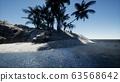 Tropical island of Maldives in ocean 63568642
