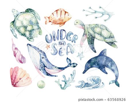 6 Watercolor Ocean Wave (PNG Transparent)   OnlyGFX.com