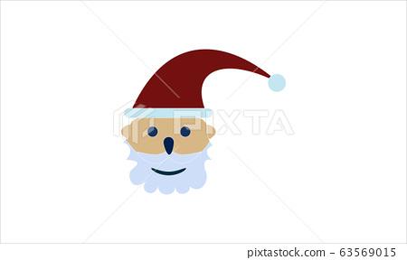 Santa Claus icon, Christmas holiday celebration symbol. 63569015