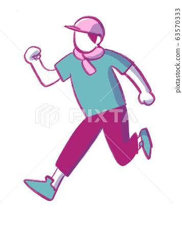 달리기하는 남자 63570333