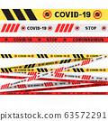 coronavirus covid-19 do not cross line 63572291