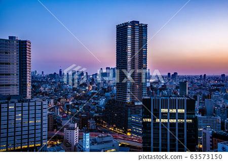 晚上景觀在東京 63573150