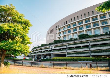Fukuoka Dome Baseball stadium in Fukuoka, Japan 63573870
