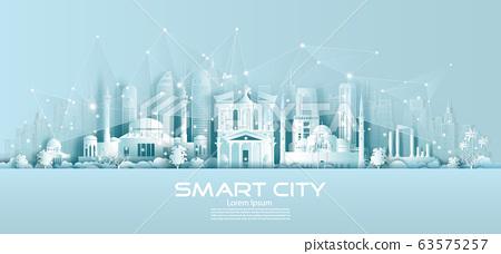 Technology wireless network communication smart 63575257