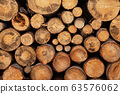 Fireplace wood logs texture 63576062