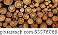 Fireplace wood logs texture 63576069