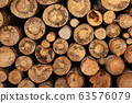 Fireplace wood logs texture 63576079