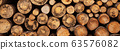 Fireplace wood logs texture 63576082