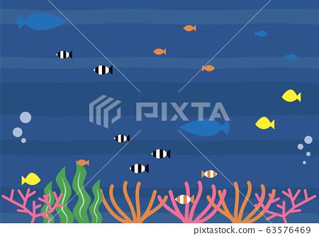 Underwater illustration 63576469