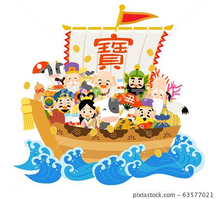 寶船上的牛和七個幸運神 63577021