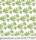 Cannabis leaf on green background. ESP pattern 63577587