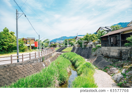 Countryside village scenery in Fukuoka, Japan 63577708