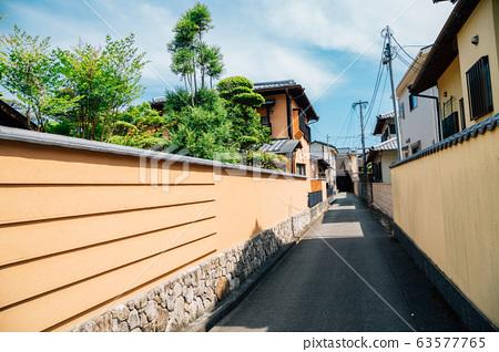 Japanese style residential building area in Fukuoka, Japan 63577765