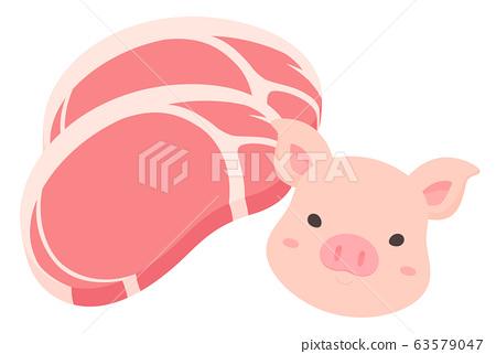 Pork_loin__pig_illustration 63579047