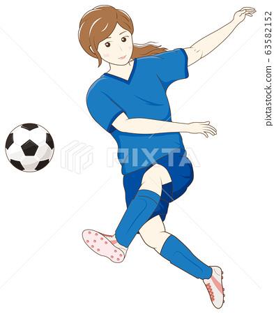 Women playing soccer 02 63582152