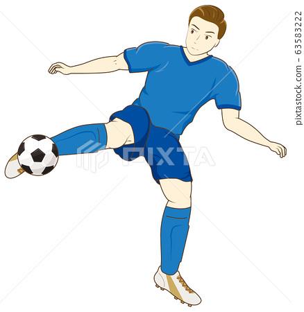 男子踢足球04 63583222