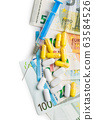 Syringe, pills and euro money. Healthcare and 63584526