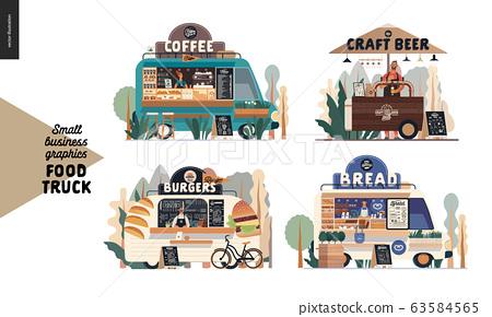 Food trucks - small business graphics 63584565
