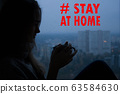 Stay at home virus quarantine background. 63584630