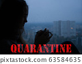 Stay at home virus quarantine background. 63584635