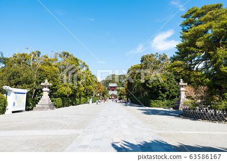 쓰루 오카 하치만 구 경내 풍경 마이 전과 누문 (가나가와 현 가마쿠라시) 2020 년 3 월 현재 63586167
