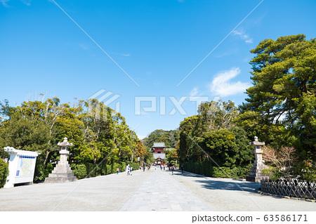 쓰루 오카 하치만 구 경내 풍경 마이 전과 누문 (가나가와 현 가마쿠라시) 2020 년 3 월 현재 63586171