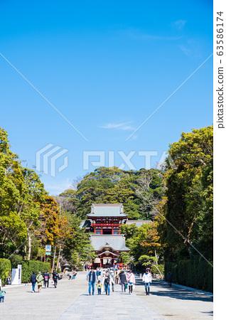 쓰루 오카 하치만 구 경내 풍경 마이 전과 누문 (가나가와 현 가마쿠라시) 2020 년 3 월 현재 63586174