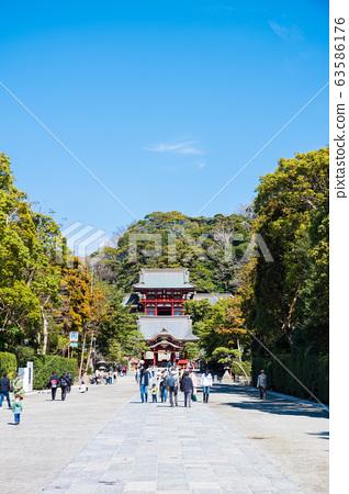 쓰루 오카 하치만 구 경내 풍경 마이 전과 누문 (가나가와 현 가마쿠라시) 2020 년 3 월 현재 63586176