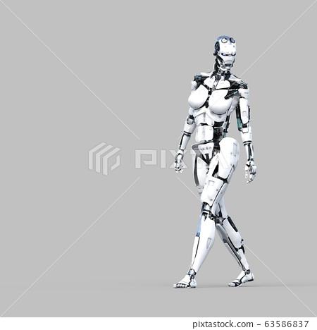 AI 로봇 안드로이드 perming3DCG 일러스트 소재 63586837