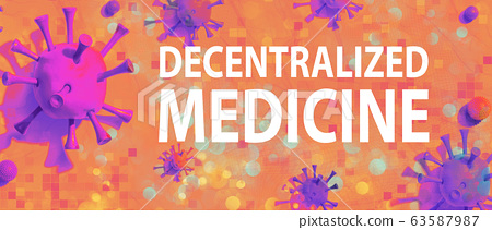 Decentralized Medicine theme with viral objects 63587987