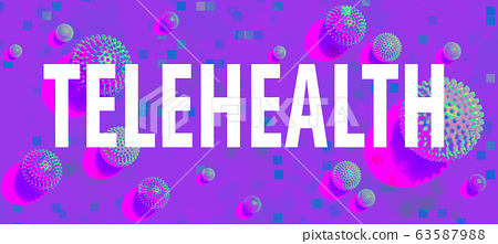 Telehealth theme with viral objects 63587988