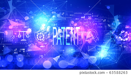 Patent concept with technology light background 63588263