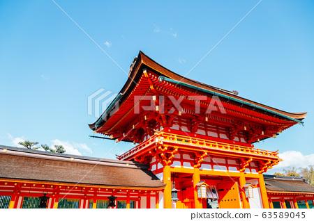 Fushimi Inari shrine in Kyoto, Japan 63589045