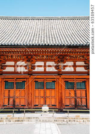 Toji temple traditional architecture in Kyoto, Japan 63589457