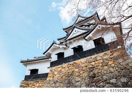 Hikone castle in Shiga, Japan 63590296